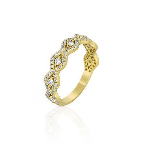 FOXY-YELLOW GOLD DIAMOND BAND