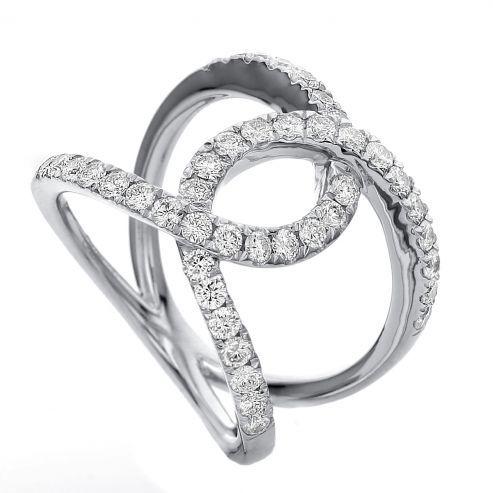 Fashion twist diamond ring