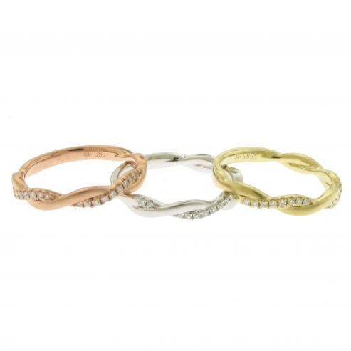 TWIST STACKABLE RING