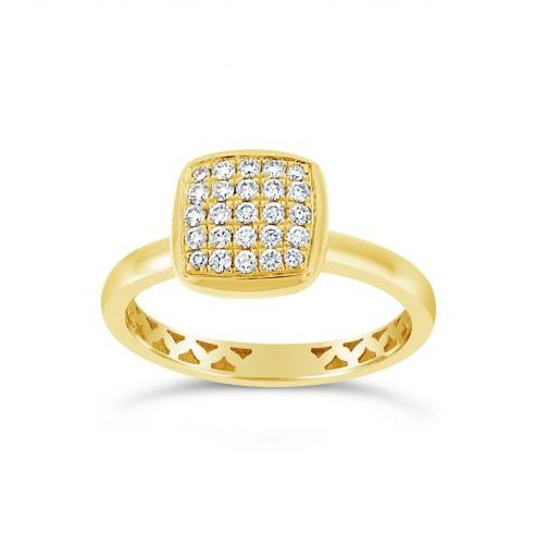 Yellow Gold Diamond Cluster Fashion Ring