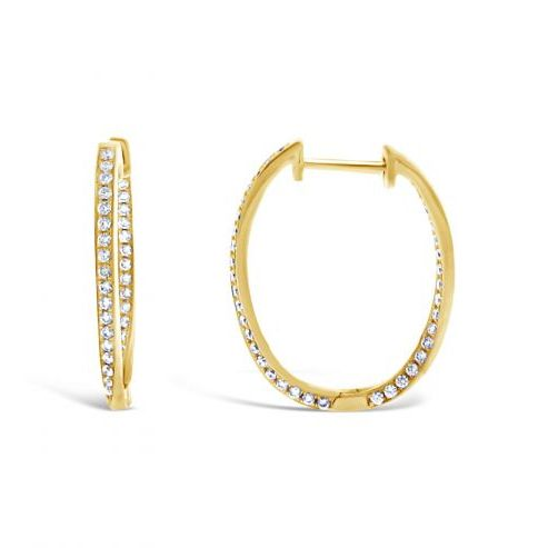 Diamond Twist Inside Out Hoops