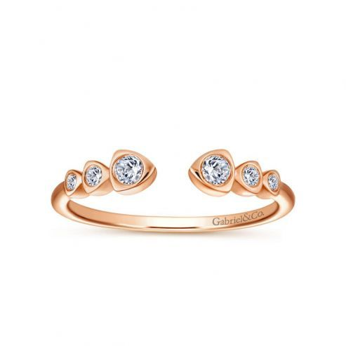 ROSE GOLD AND DIAMOND STACKING BAND