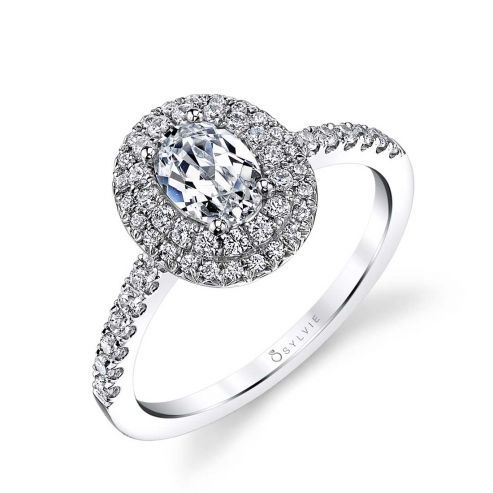 CLAUDIA - DOUBLE HALO ENGAGEMENT RING