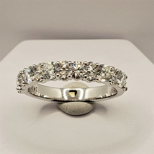 Round Diamonds Wedding Band