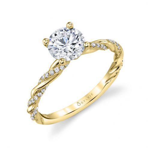 WHITE GOLD SPIRAL ENGAGEMENT RING