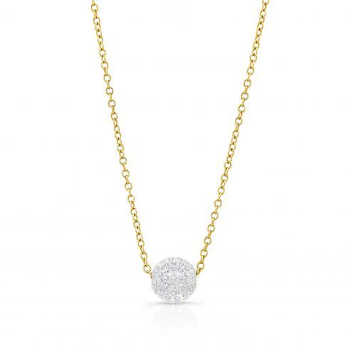 Solare necklace with yellow gold chain
