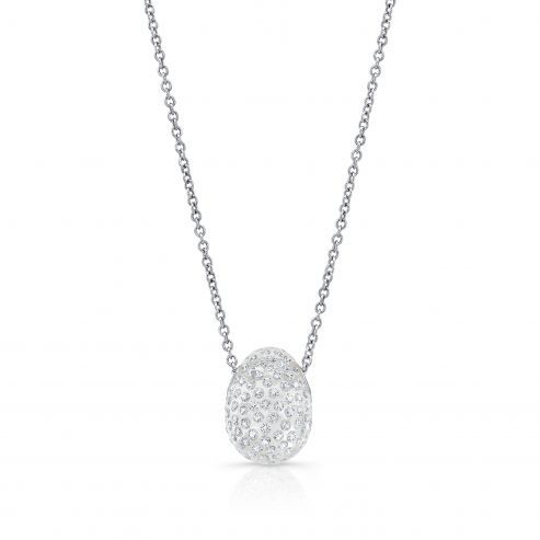 Solare necklace with oval pendant