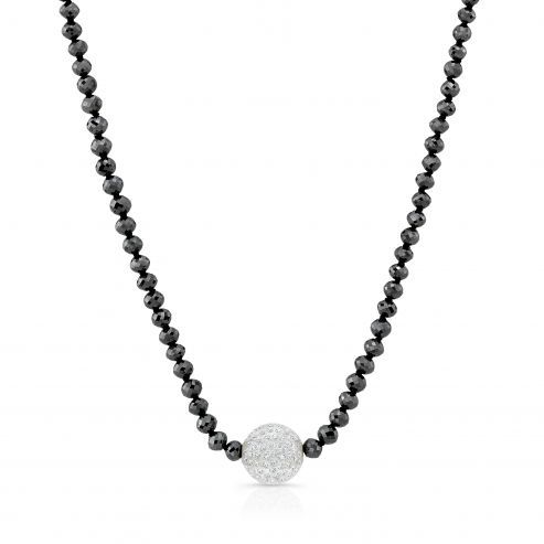 Solare necklace with black diamonds