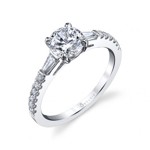 LEIGH ANN - MODERN THREE STONE ENGAGEMENT RING