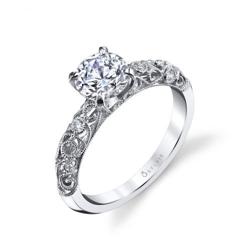 JACQUELINE - VINTAGE INSPIRED SOLITAIRE ENGAGEMENT RING
