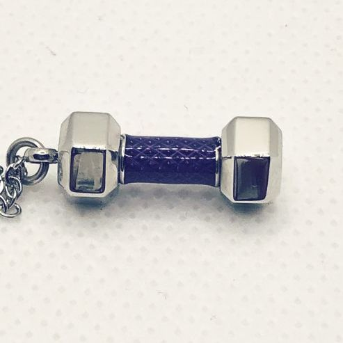 Dumbbell Charm Necklace